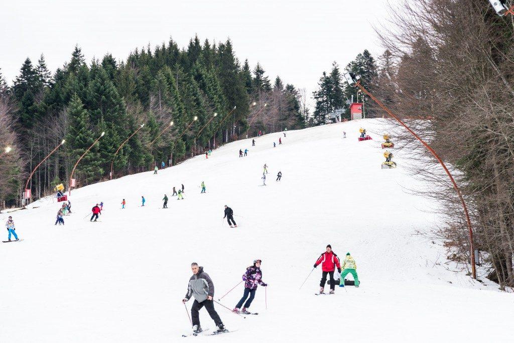 at a ski resort