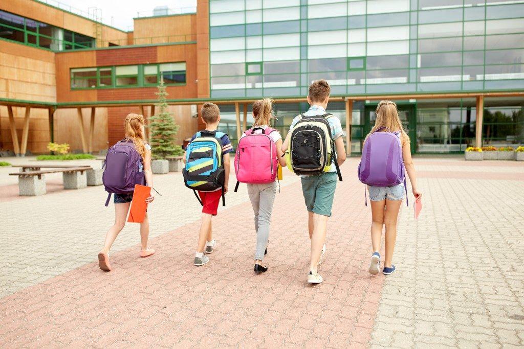 children walking