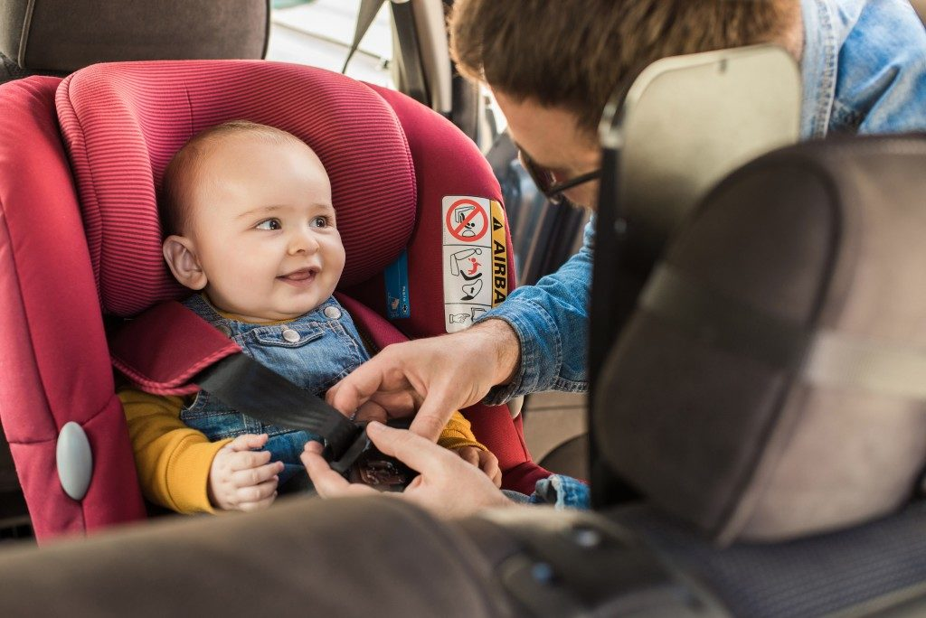 baby in the car seat