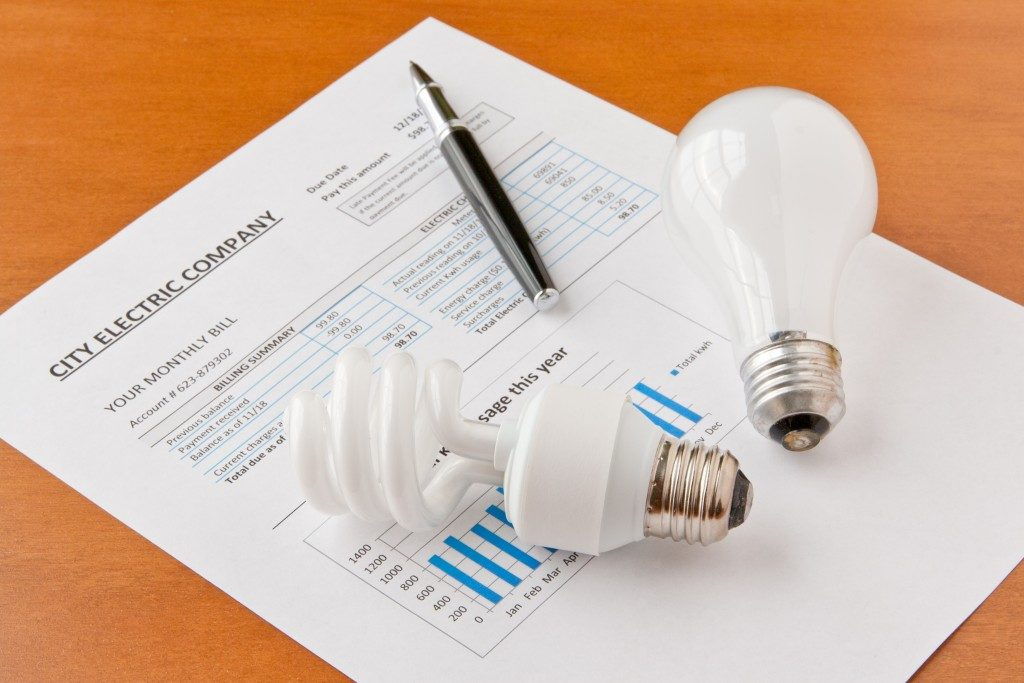 lighbulb and electricity bill
