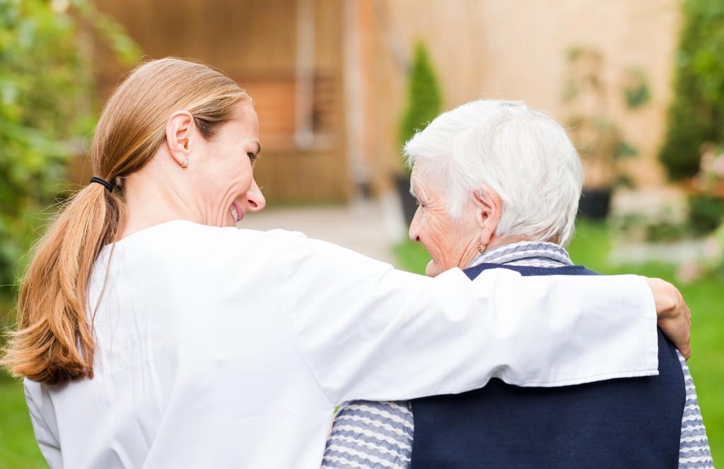 caregiver with a senior