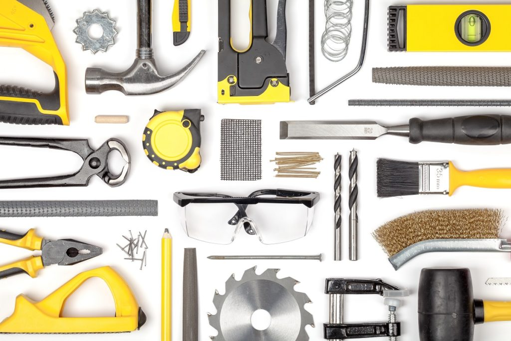 variety of tools and equipment