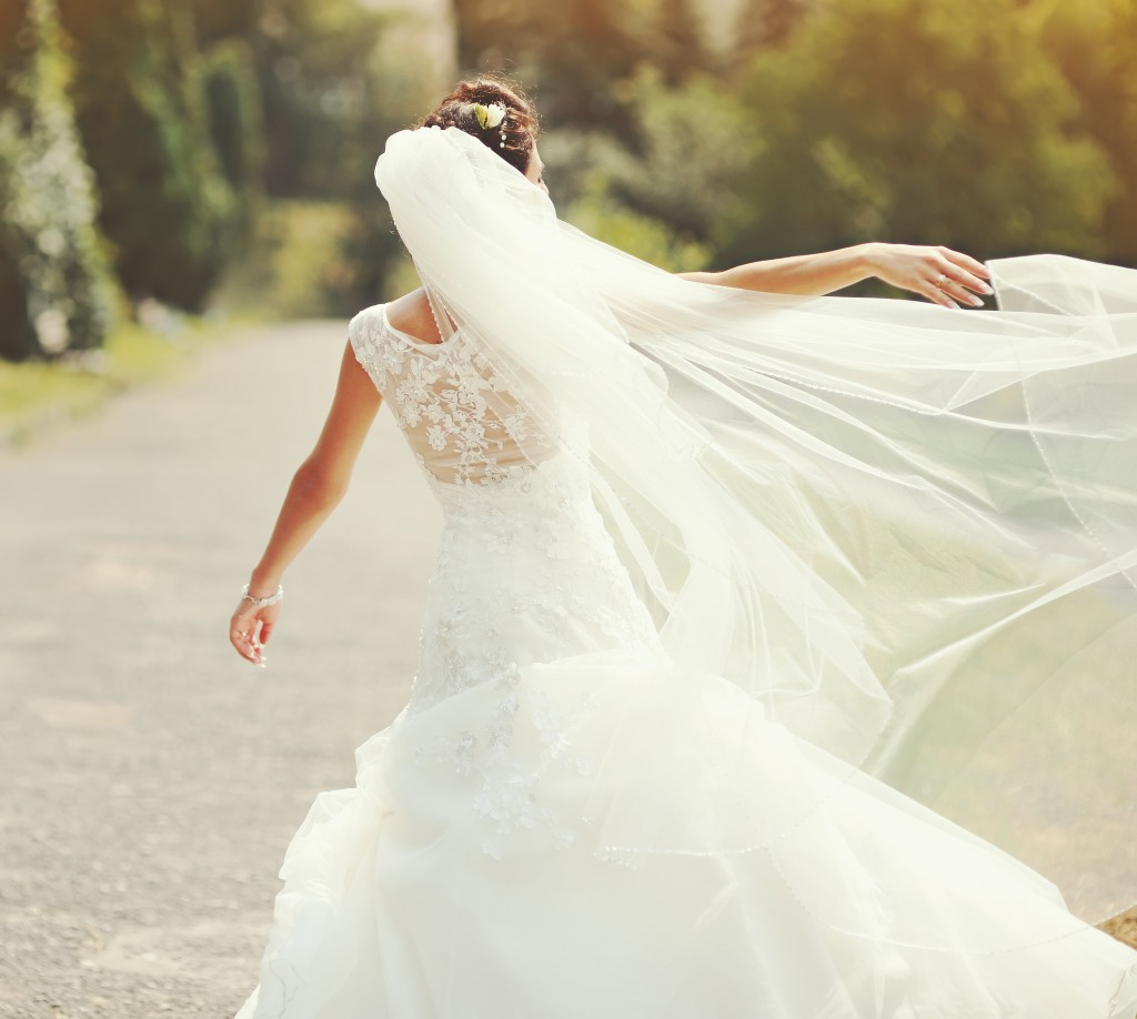 Female in bridal gown