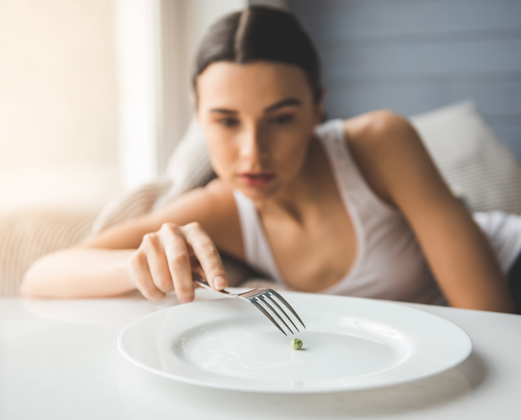 person with eating disorder