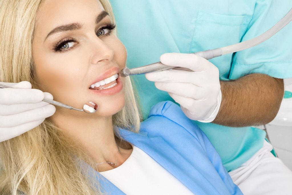 woman with a dentist